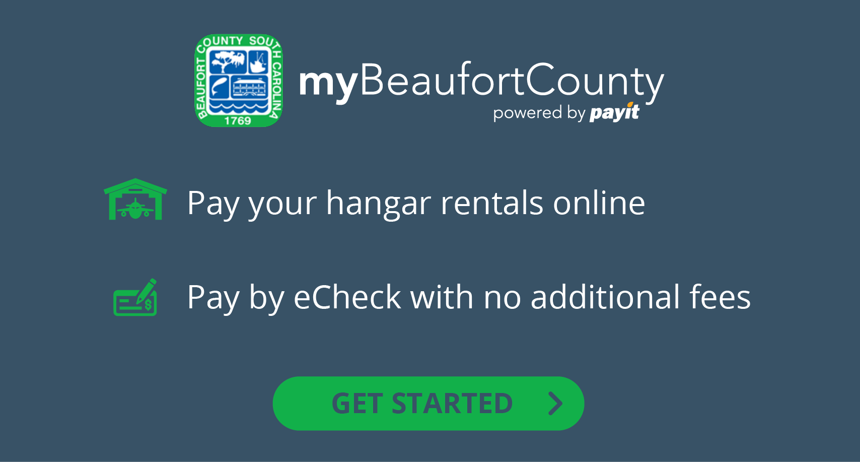 Pay your hangar rentals online.